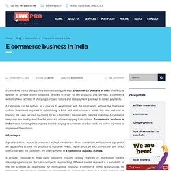 e-commerce business in India