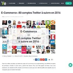 E-Commerce : 80 comptes Twitter à suivre en 2016