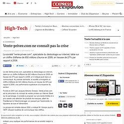 Vente-privee.com ne connaît pas la crise