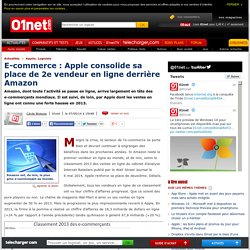 E-commerce : Apple consolide sa place de 2e vendeur en ligne derrière Amazon