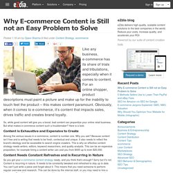 Why E-commerce content is still not an easy problem to solve