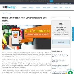 Mobile Commerce: A More Convenient Way to Earn Profits