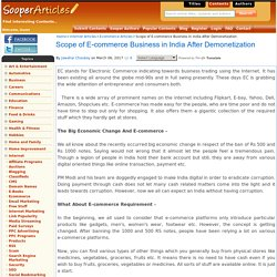 Scope of E-commerce Business in India After Demonetization