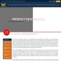 product description writing services india