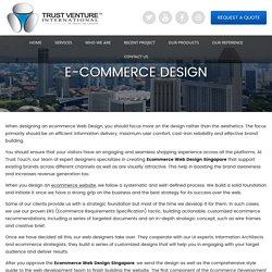 E-Commerce design Web Design Singapore