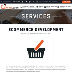 E-commerce Web Design Development Company India