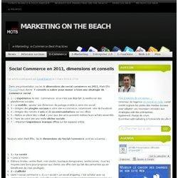 Social Commerce en 2011, dimensions et conseils
