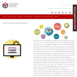 Woo-Commerce Ecommerce Web Development Company in India
