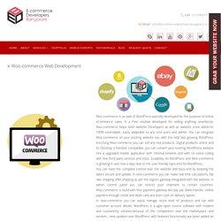 Woo-Commerce Ecommerce Web Development Company in India