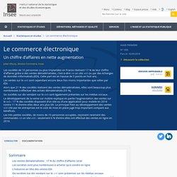 Le commerce électronique - Insee Première - 1695