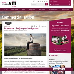 E-commerce : 3 enjeux pour les vignerons