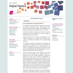 Le F-commerce, trop tôt enterré ? - TNS Sofres Digital Factory