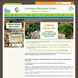 Le commerce équitable made in France - © Commerce Equitable France