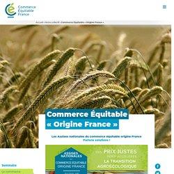 """Commerce Équitable """"Origine France"""""""