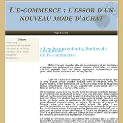 - L'e-commerce : l'essor d'un nouveau mode d'achat