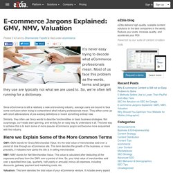 E-commerce jargons explained: GMV, NMV, Valuation