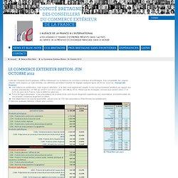 Le Commerce Extérieur Breton : fin Octobre 2012 - Bretagne