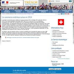 Le commerce extérieur suisse en 2014