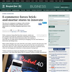 E-commerce forces brick-and-mortar stores to innovate