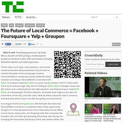 The Future of Local Commerce = Facebook + Foursquare + Yelp + Groupon
