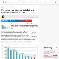 L'e-commerce français a réalisé une croissance de 11,5% en 2016