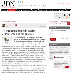 L'e-commerce français atteint 57milliards d'euros en 2014