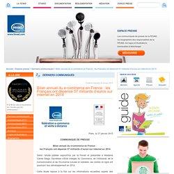 Bilan annuel du e-commerce en France : les Français ont dépensé 57 milliards d'euros sur internet en 2014