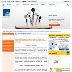Bilan 2015 du e-commerce en France : les Français ont dépensé 65 milliards d'euros sur internet