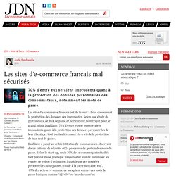Les sites d'e-commerce français mal sécurisés