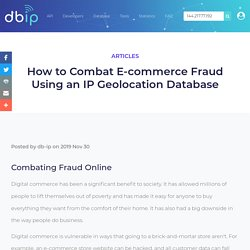 How to Combat E-commerce Fraud Using an IP Geolocation Database - DB-IP