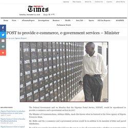 NIPOST to provide e-commerce, e-government services – Minister
