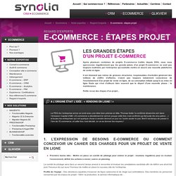 Projet E-commerce : les grandes étapes - Synolia Expert E-commerce
