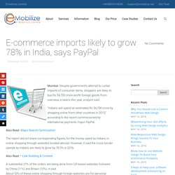 E-commerce imports likely to grow 78% in India, says PayPal