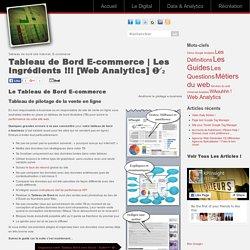 Les Ingrédients ! Web Analytics ➊