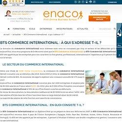 BTS Commerce International : à qui s'adresse-t-il? - ENACOEnaco.fr