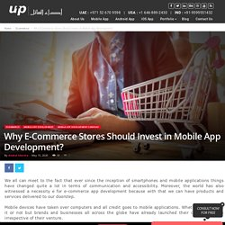 E-Commerce Invest in Mobile App Development