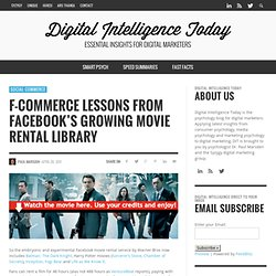 F-Commerce Lessons from Facebook's Growing Movie Rental Library