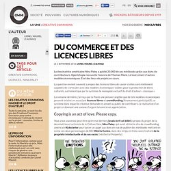 Du commerce et des licences libres