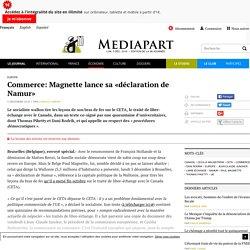 Commerce: Magnette lance sa «déclaration de Namur»