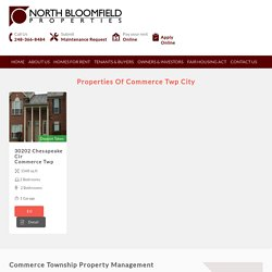 Commerce Township Property Management & Rental Property Management Companies in Commerce Township