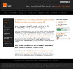E-commerce, Site marchand, vente en ligne