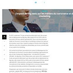 L'impact du big data sur les métiers du commerce et du marketing
