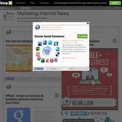 Dossier Social Commerce | Marketing Internet News