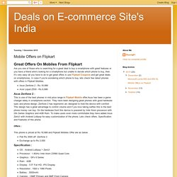Deals on E-commerce Site's India: Mobile Offers on Flipkart