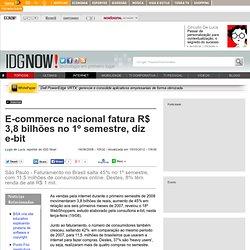E-commerce nacional fatura R$ 3,8 bilhões no 1º semestre, diz e-