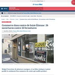 Commerce dans centre de Saint-Étienne : 26 ouvertures contre 18 fermetures
