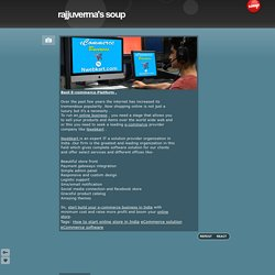 Best E-commerce Platform . - rajjuverma's soup