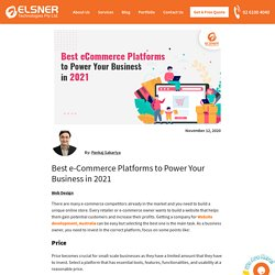 Best e-Commerce Platforms to Power Your Business in 2021
