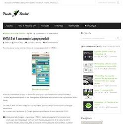 #HTML5 et E-commerce : la page produit