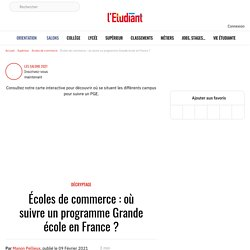 Écoles de commerce : où suivre un programme Grande école en France ? - L'Etudiant